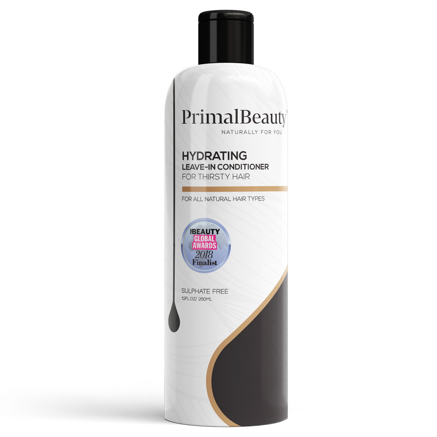 Hydrating leave in conditioner to protect natural hair from the sun