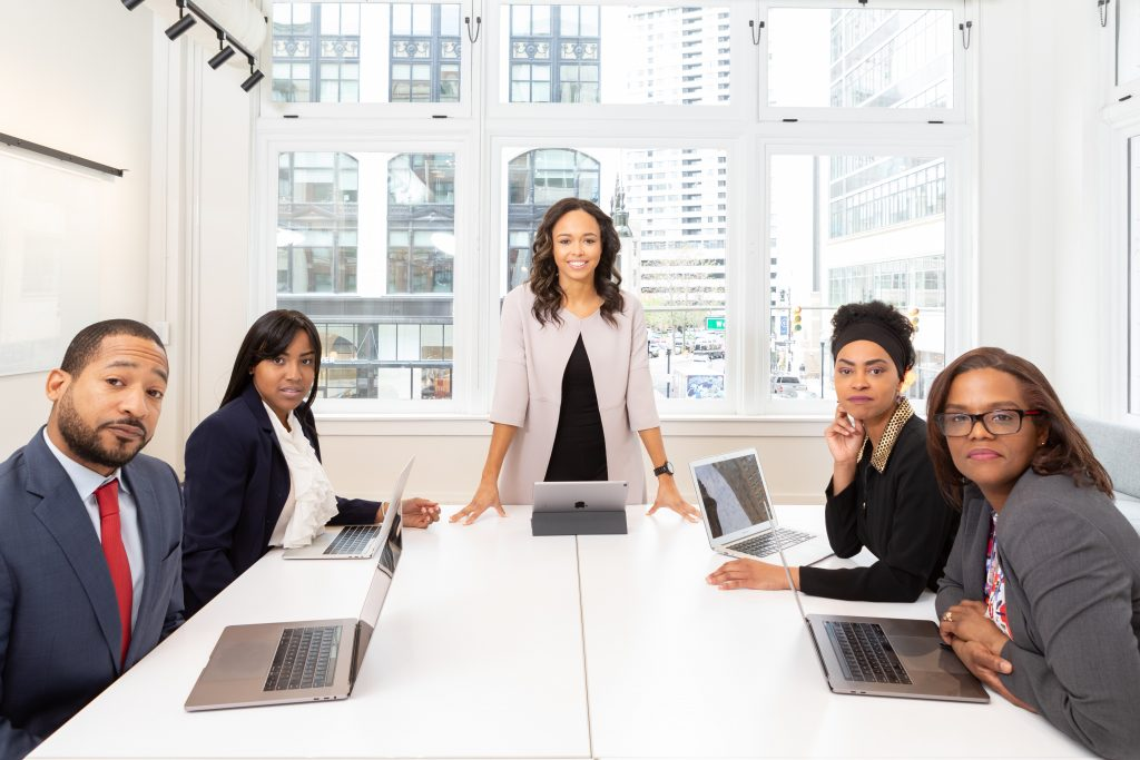 Black Business Owners sitting at table