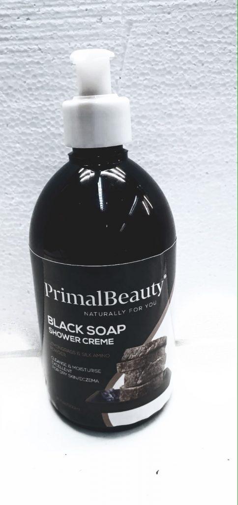 black soap shower creme